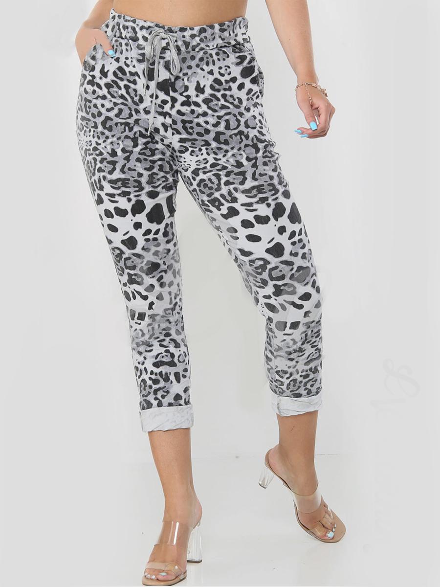 8115 Leopard Print Magic Joggers
