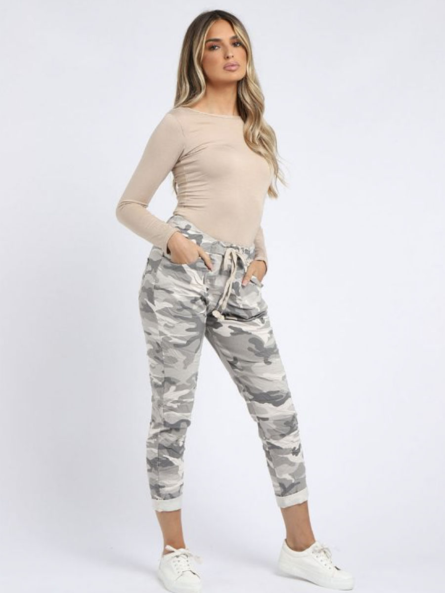 Light Camouflage Joggers