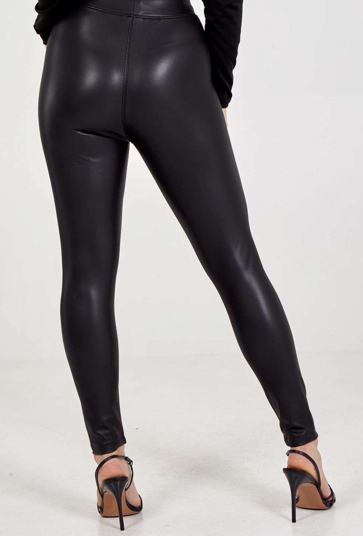 QED1262 PU Black Leggings