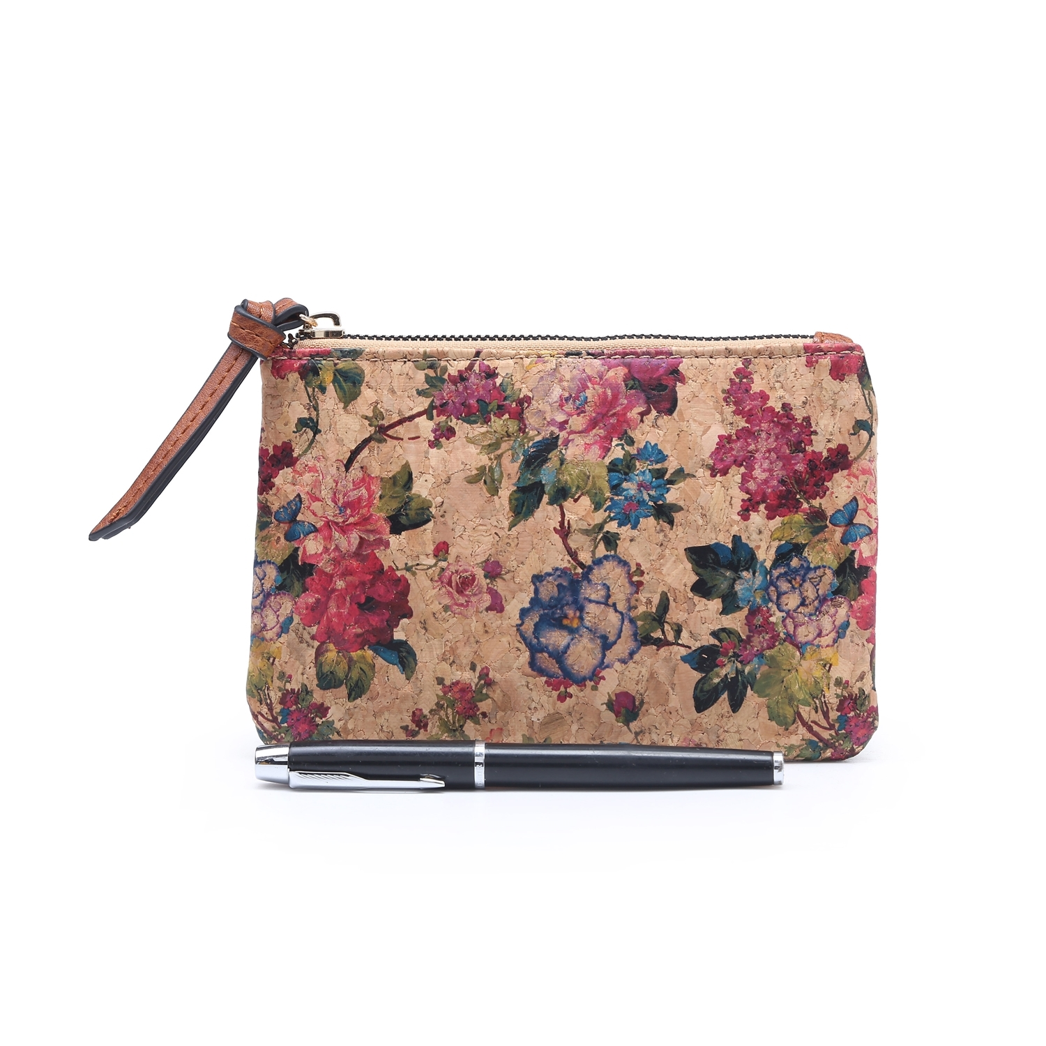 2406 Cork Floral Print Purse_no.roseNo5