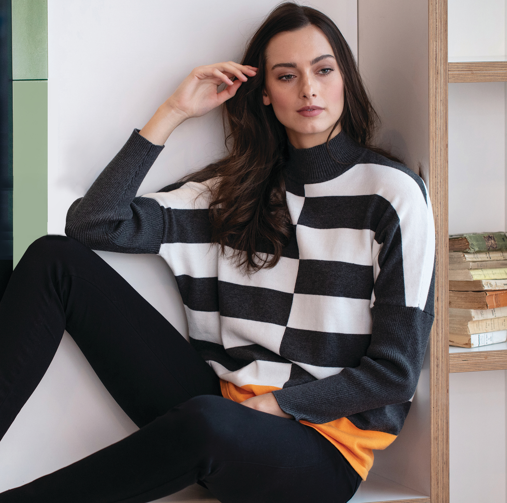 5468 MARBLE Mondrian Sweater