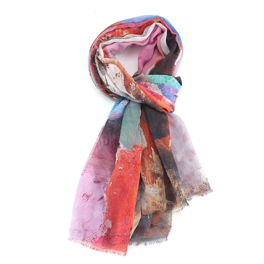 20017 Abstract Cactus Scarf