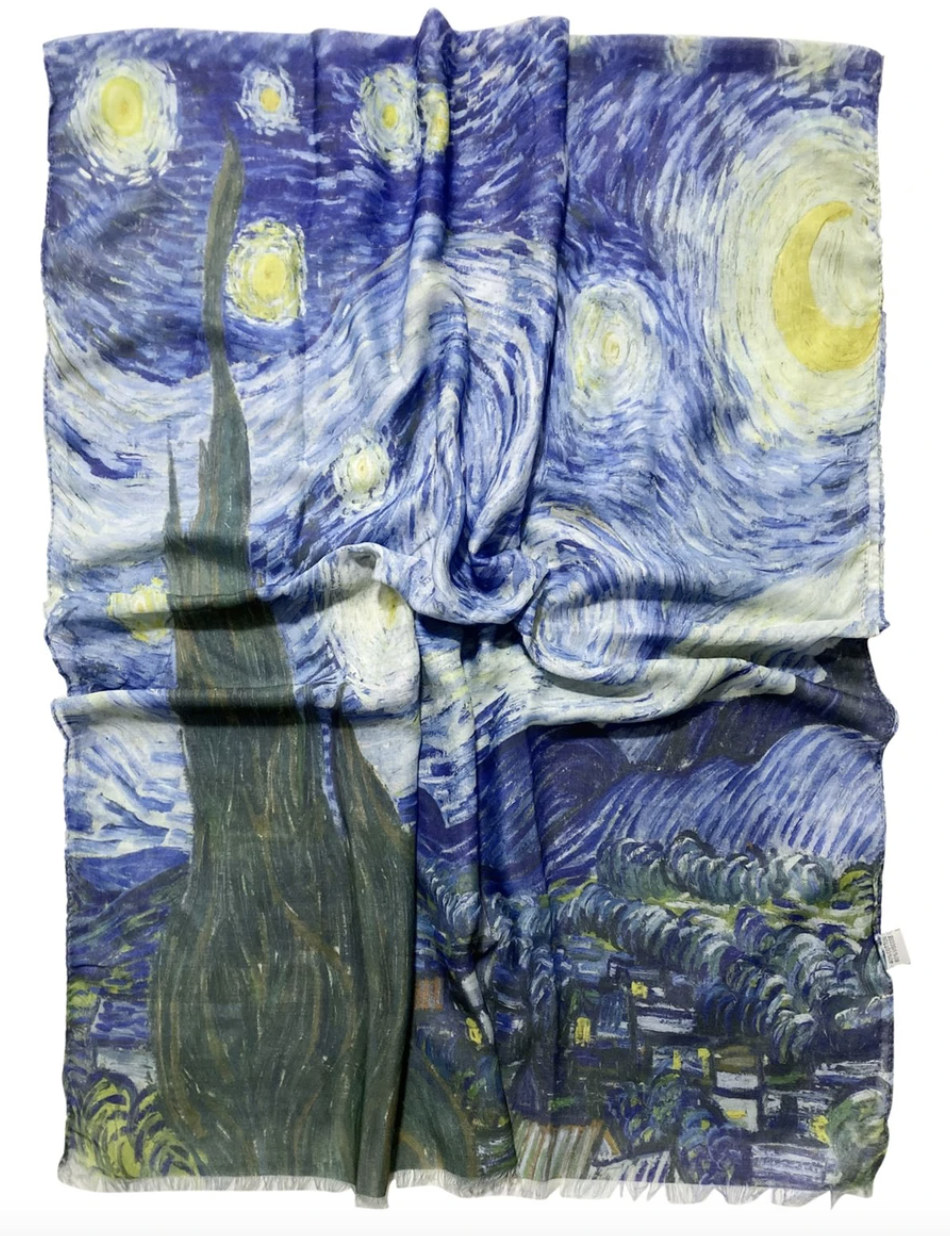 3458 Van Gogh Starry Night Print Scarf