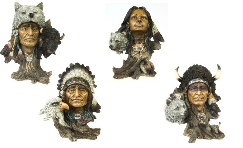 Indianhuvud - figurin