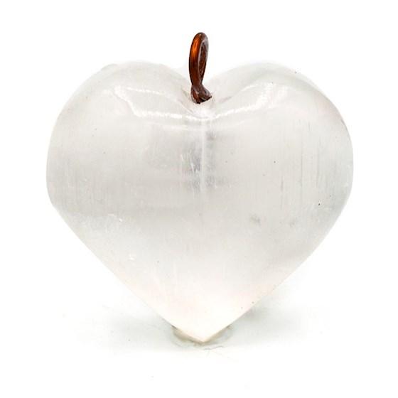 Berlock hjärta av selenit