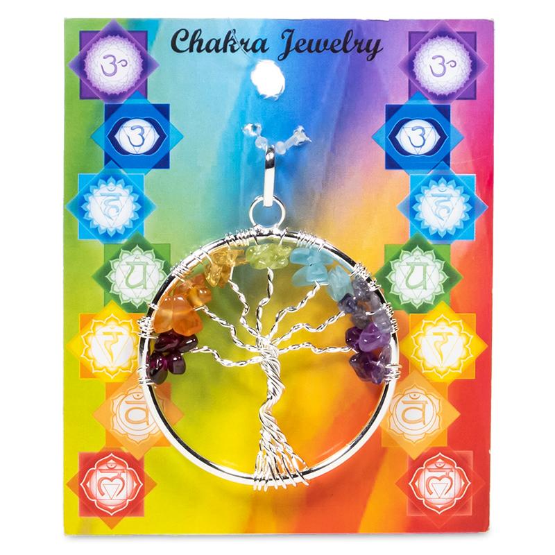 Hänge - Chakraträd koppar eller silver