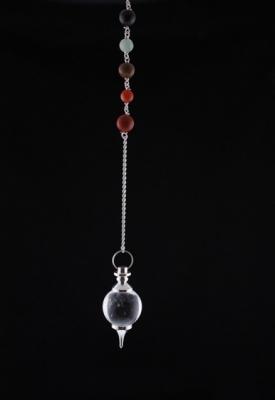 Chakrapendel Bergskristall, rund