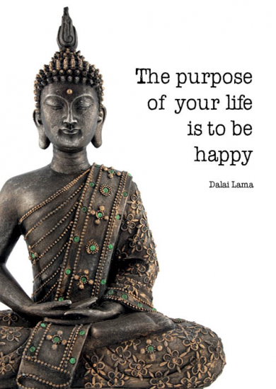 Vykort - Buddha Life Purpose
