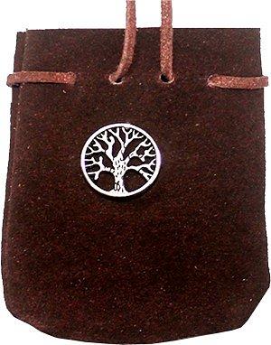 Rödbrun påse av mocka - Livets träd
