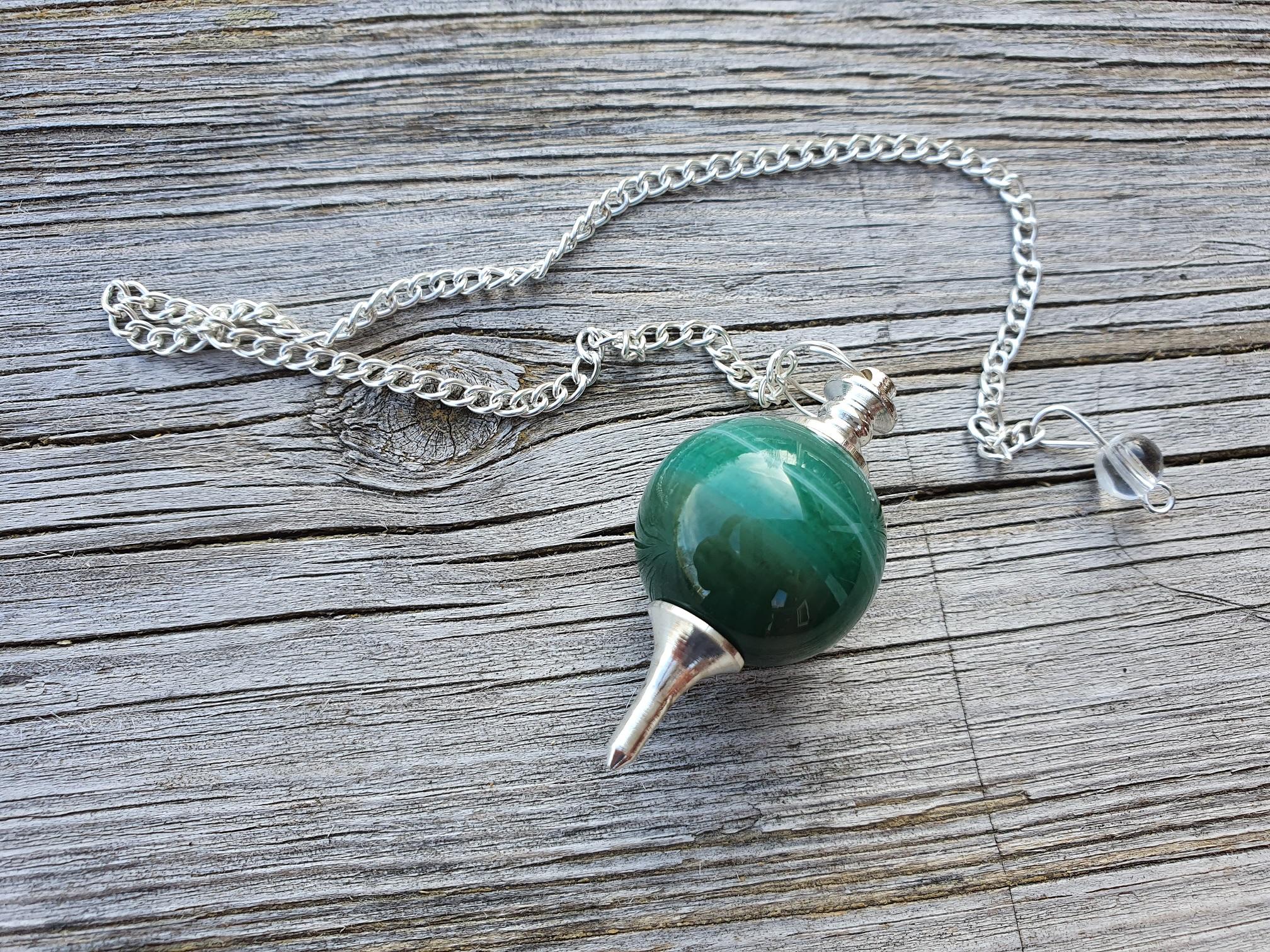 Pendel - Grön Agat