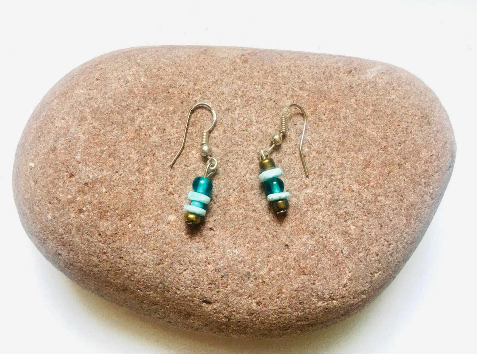 Handmade Blue and Gold Colour Earrings