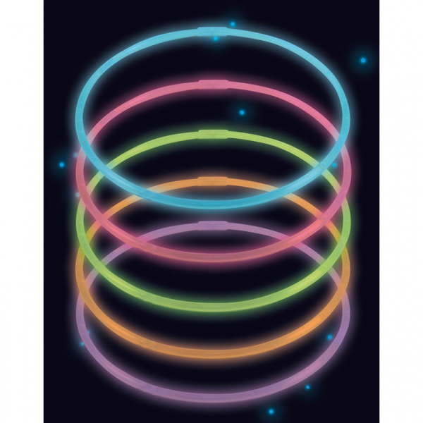 ACCESSORIES/PROPS/ 10 Glow Necklaces Assorted Plastic 56 cm