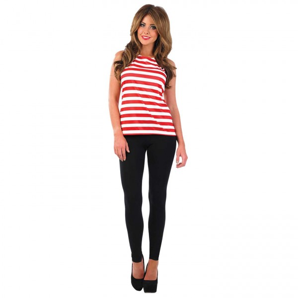 WOMAN/TV & FILM/WOMENS RED & WHITE TOP COSTUME