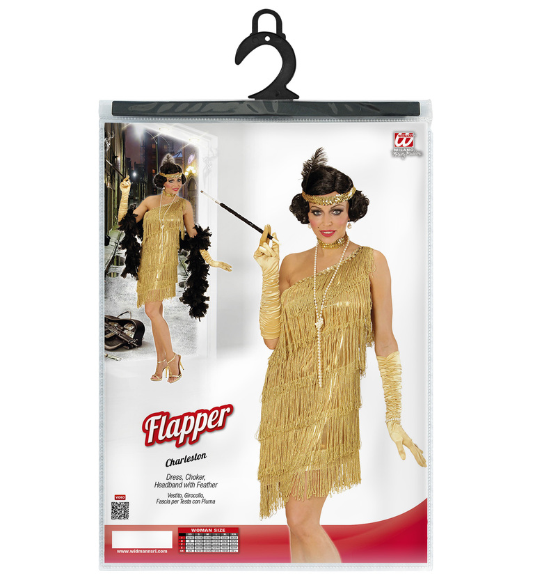 WOMAN/DECADES/1920'S/GOLD FLAPPER (dress choker headband)