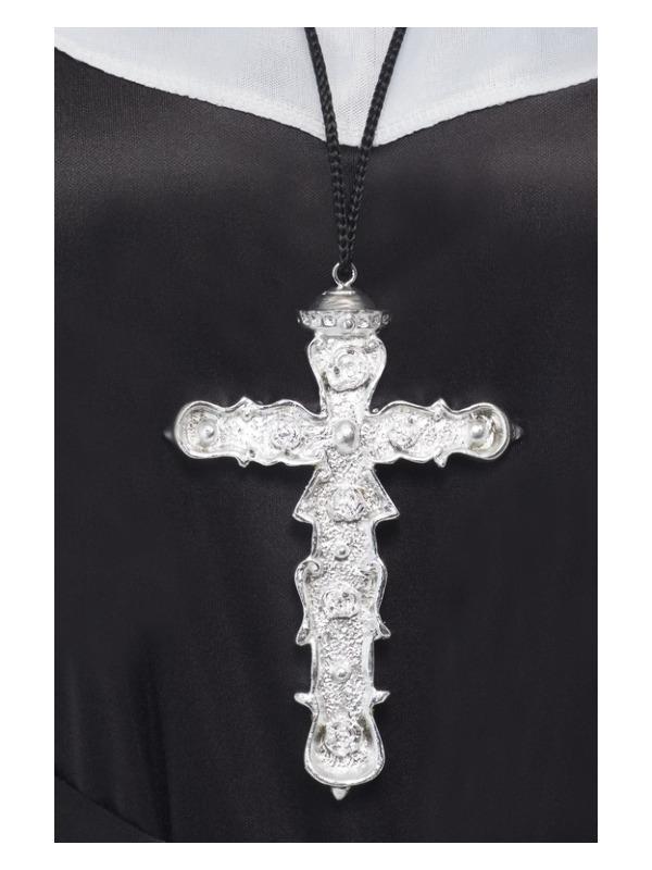 ACCESSORIES/JEWELLERY/Ornate Cross Pendant, Silver