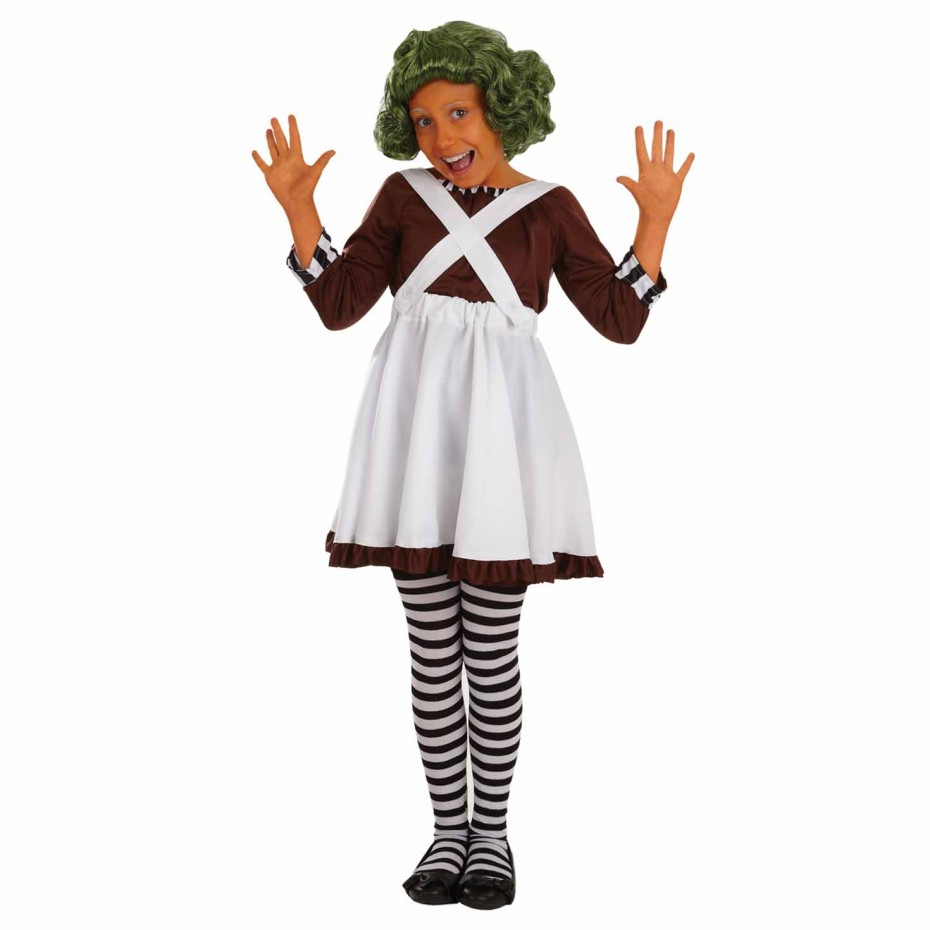 GIRLS/FILM&TV/KIDS GIRL CHOCOLATE FACTORY WORKER COSTUME