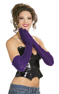 ACCESSORIES/GLOVES&SCARVES/LONG PURPLE VELVET GLOVES