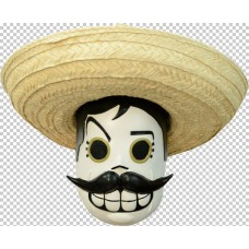 ACCESSORIES/HALLOWEEN/MASKS/ Mask Head Calaveritas Mexicano
