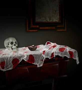 ACCESSORIES/HALLOWEEN/DECORATION/ BLOODY GAUZE FABRIC 180x80 cm