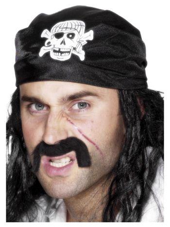 ACCESSORIES/HATS & HEADBANDS/Pirate Bandana, Black