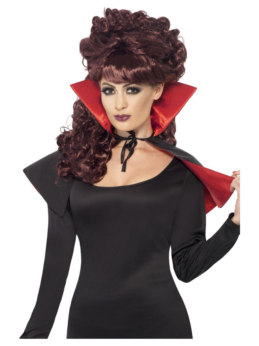 ACCESSORIES/CAPES/ Mini Vamp Cape, Black & Red