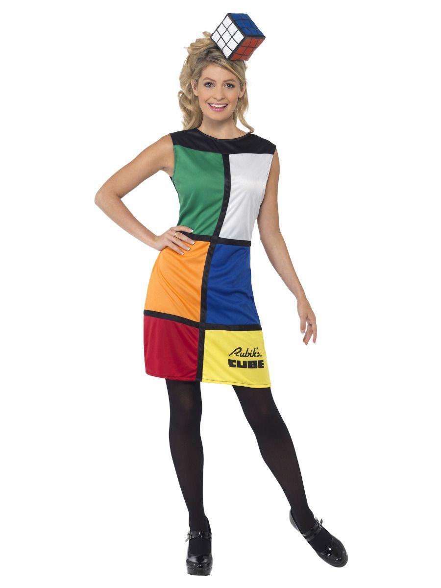 WOMAN/DECADES/1980'S/Rubik's Cube Costume, Multi-Coloured
