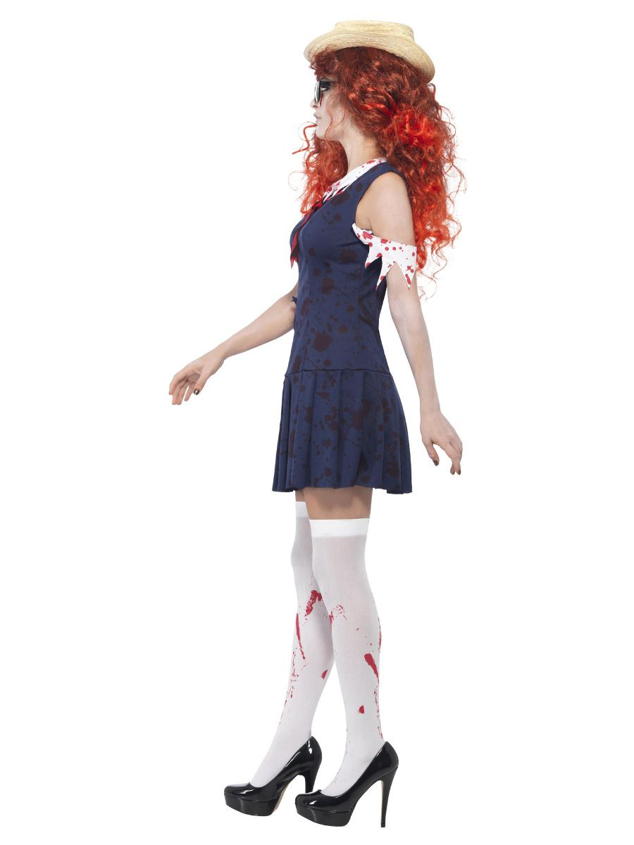 WOMAN/HALLOWEEN/High School Horror Zombie College Student, Navy