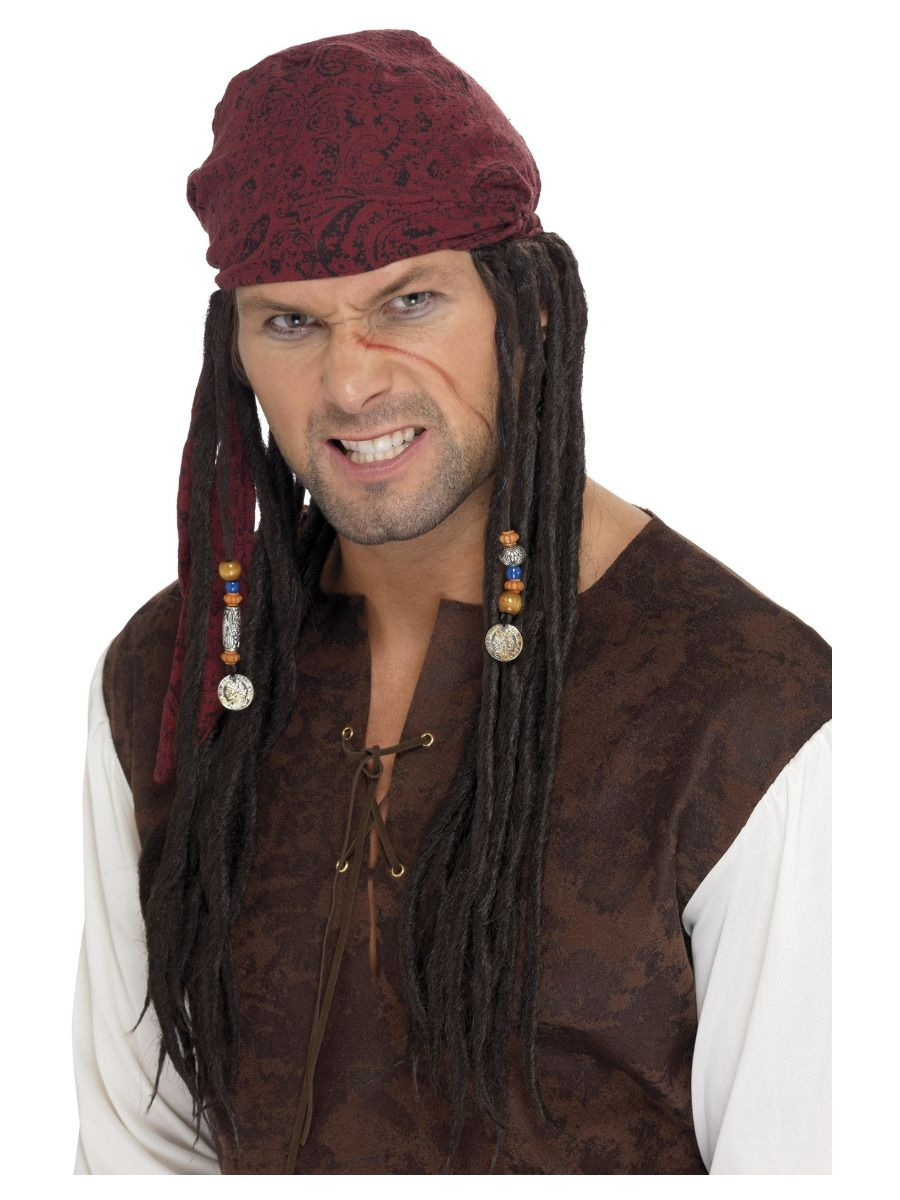 WIG/ FILM & TV/ Pirate Bandanna with Plaits, Brown