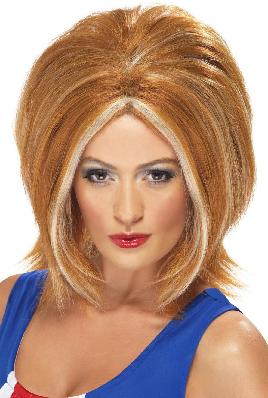 WIG/POPSTARS/GIRL POWER WIG - GINGER WITH BLONDE STREAKS