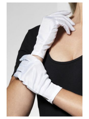 ACCESSORIES/GLOVES & SCARVES/Short White Gloves