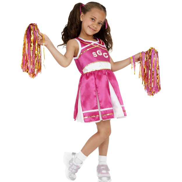 GIRLS/UNIFORMS/Cheerleader Costume, Child, Pink
