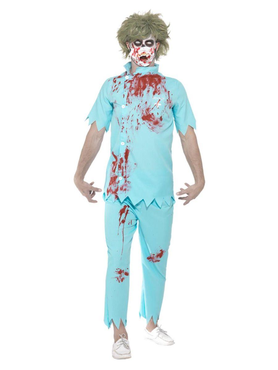 MENS/HALLOWEEN/Zombie Dentist Costume, Blue