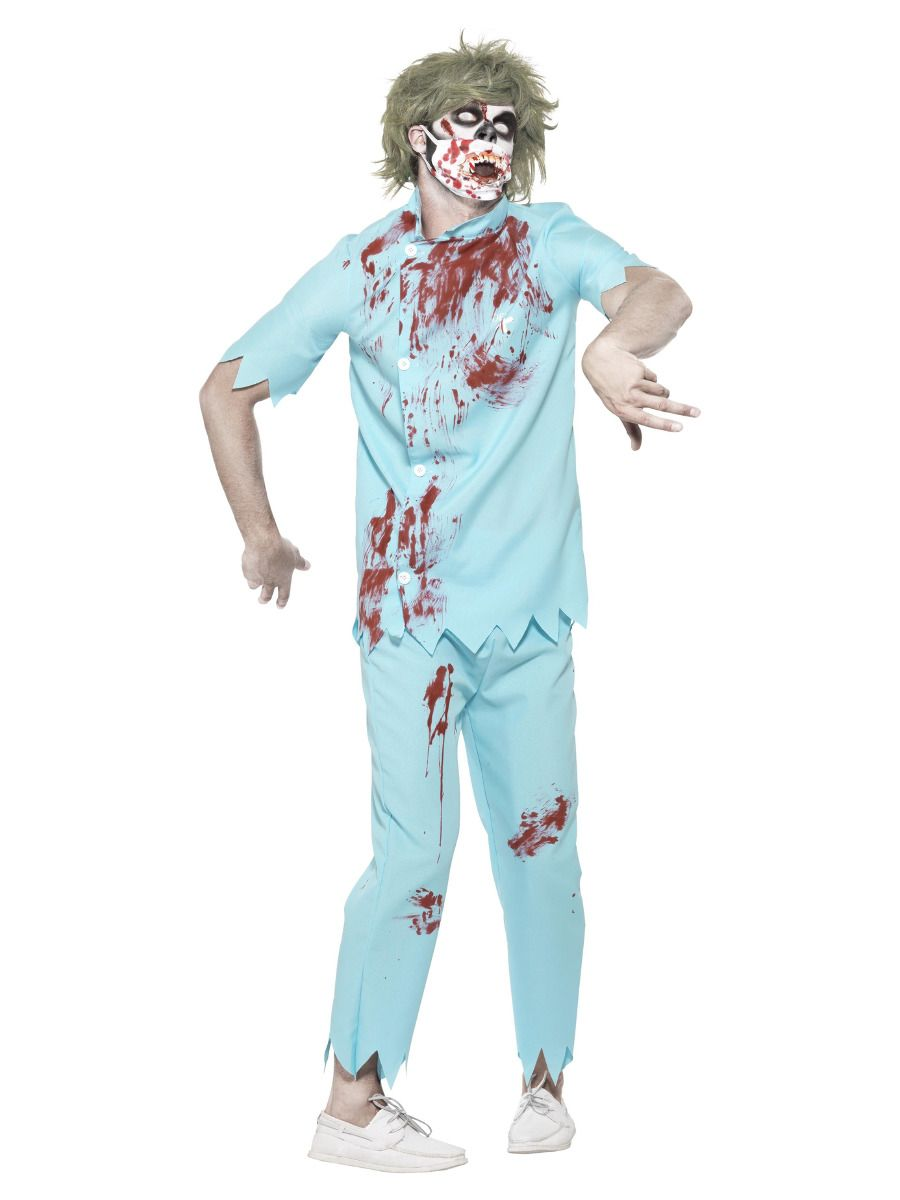 MENS/HALLOWEEN/Zombie Dentist Costume, Blue