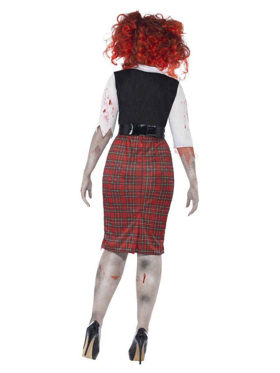WOMAN/HALLOWEEN/ Curves Zombie School Girl Costume, Black