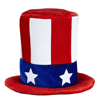ACCESSORIES/HATS & HEADBANDS/UNCLE SAM TOP HAT