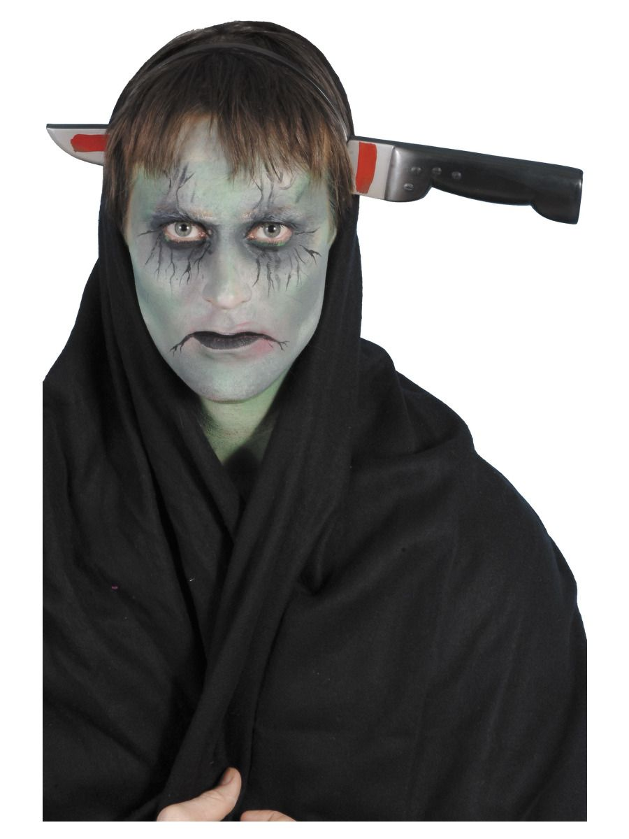 ACCESSORIES/HALLOWEEN/WEAPONS/Knife Through Head Headband
