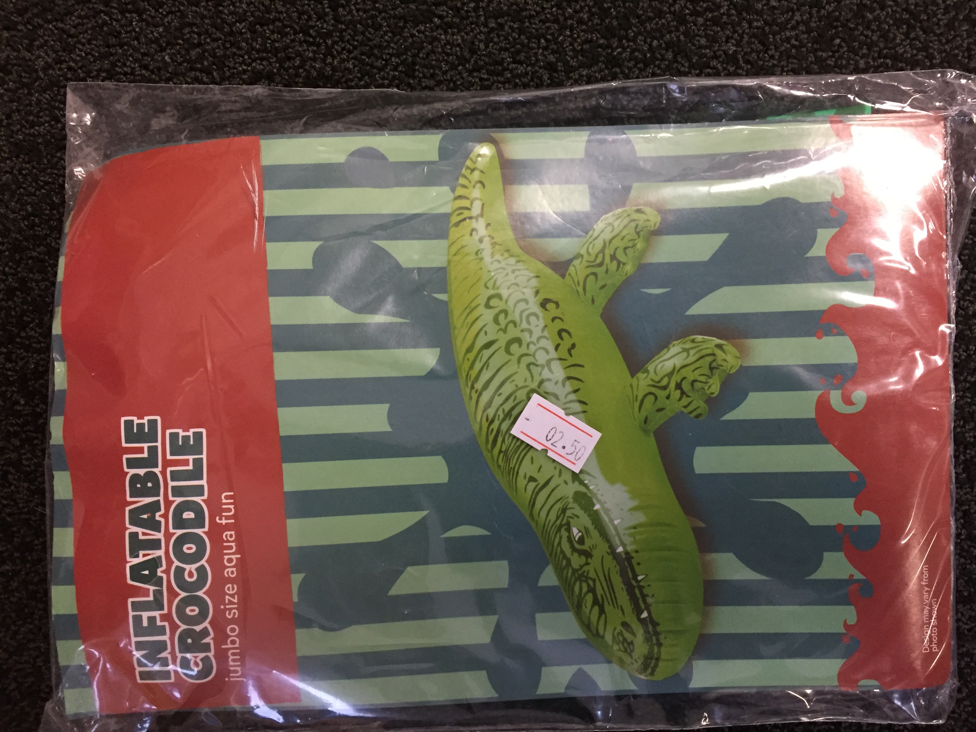 ACCESSORIES/INFLATABLES/INFLATABLE CROCODILE