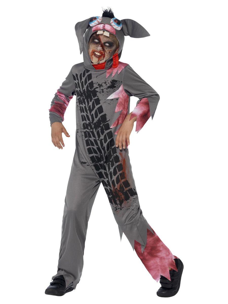 BOYS/HALLOWEEN/Deluxe Roadkill Pet Costume, Grey