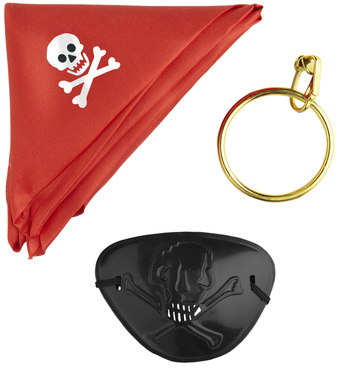ACCESSORIES/CHARACTER KITS/PIRATE SET (bandana eyepatch earring)