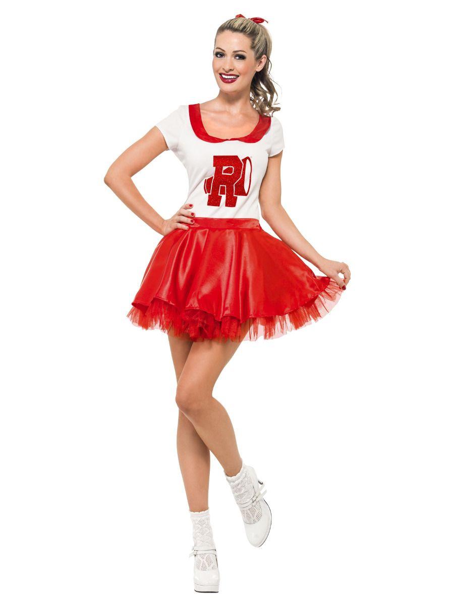 WOMAN/TV & FILM/Sandy Cheerleader Costume, Red & White