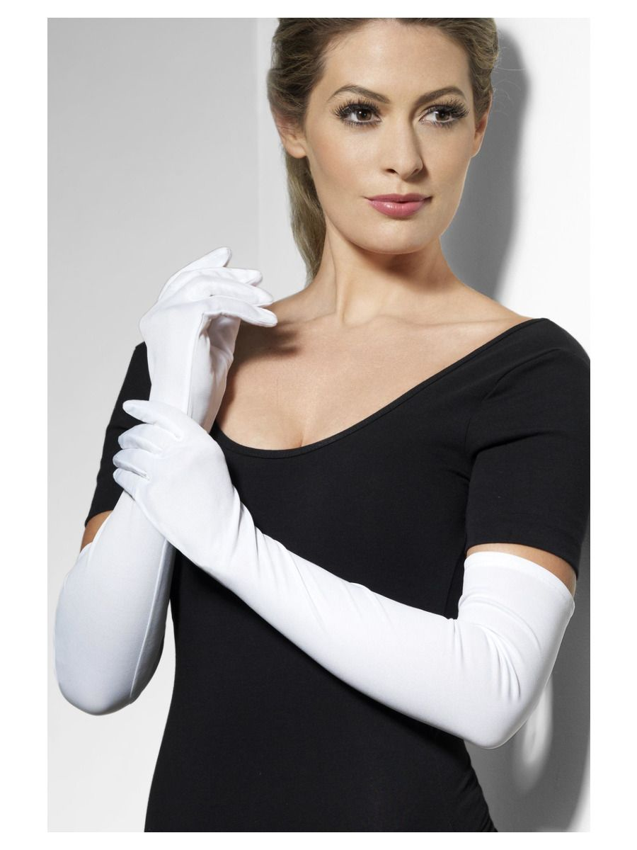 ACCESSORIES/GLOVES & SCARVES/LONG WHITE GLOVES LADIES