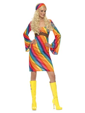 WOMAN/DECADES/19702/RAINBOW HIPPIE COSTUME