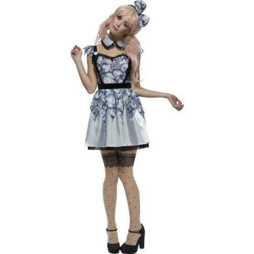 WOMAN/HALLOWEEN/Fever Broken Doll Annie Costume, Blue