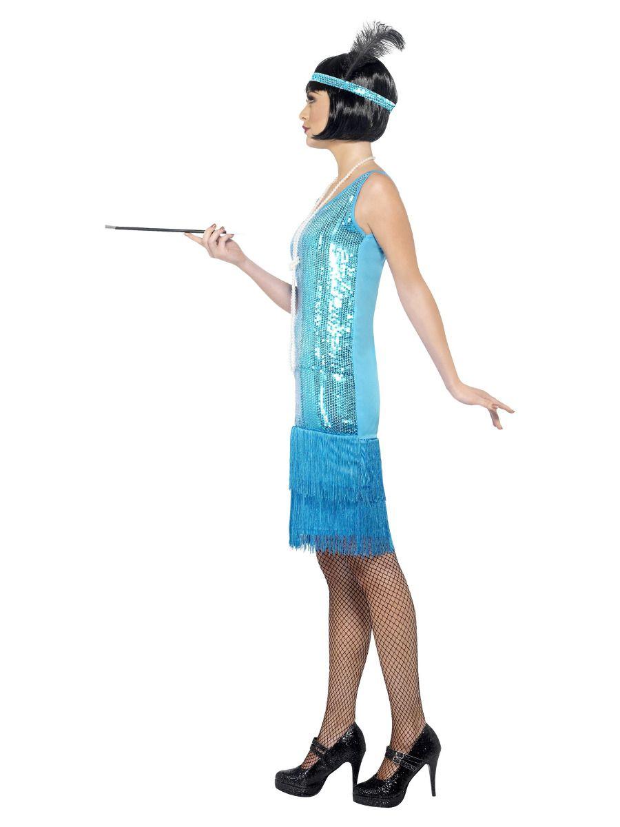 WOMAN/DECADES/1920'S/Flirty Flapper Costume, Teal