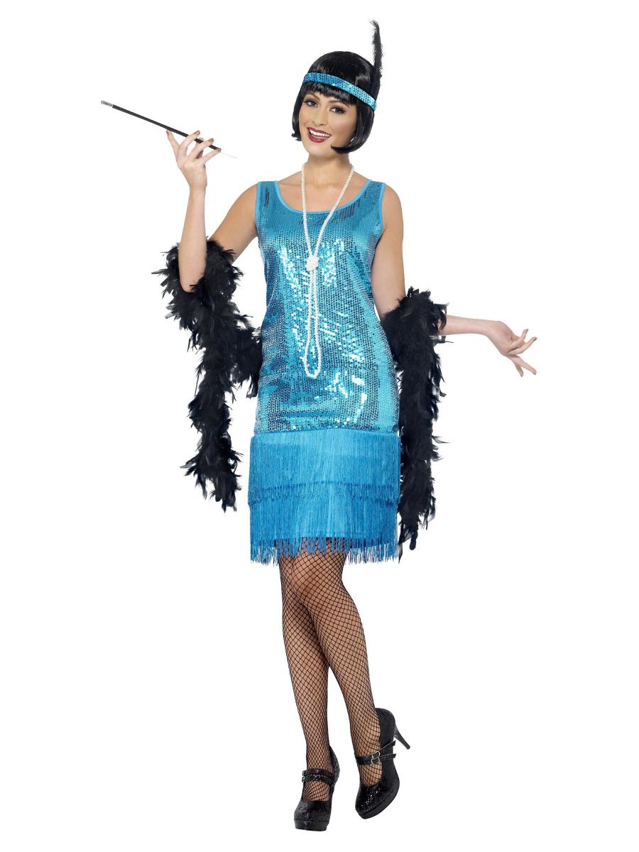 WOMAN/DECADES/1920'S/Flirty Flapper Costume, Teal