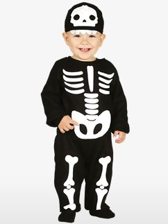 INFANTS/HALLOWEEN/ CUTE SKELETON