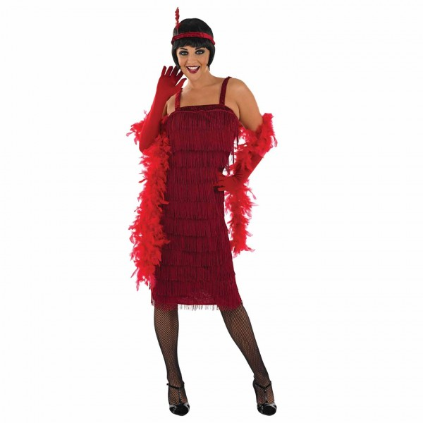 WOMAN/DECADES/1920S/ROARING 20S GIRL RED