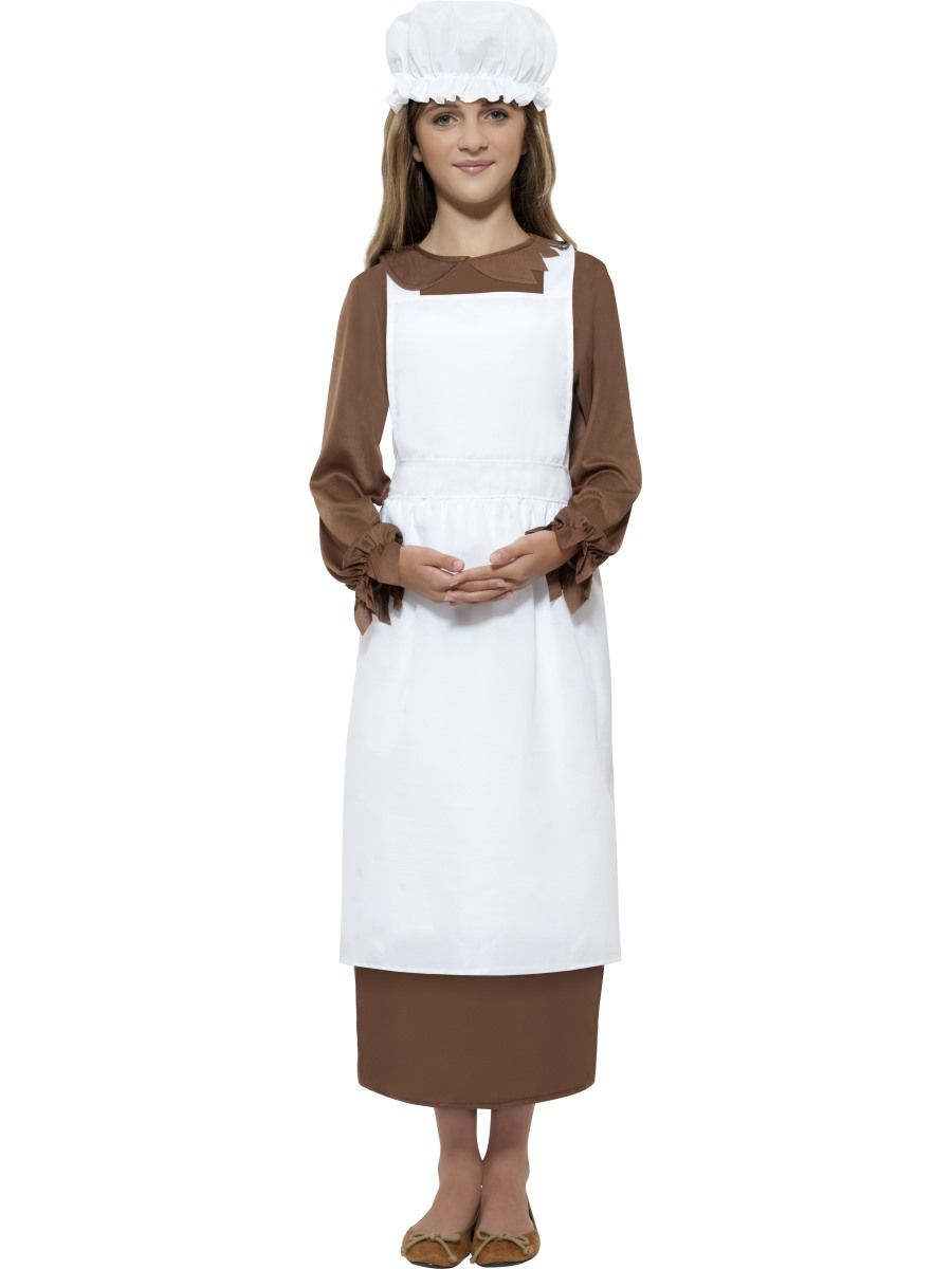 GIRLS/HISTORY/Victorian Kit, White TO SUIT 7-9YRS