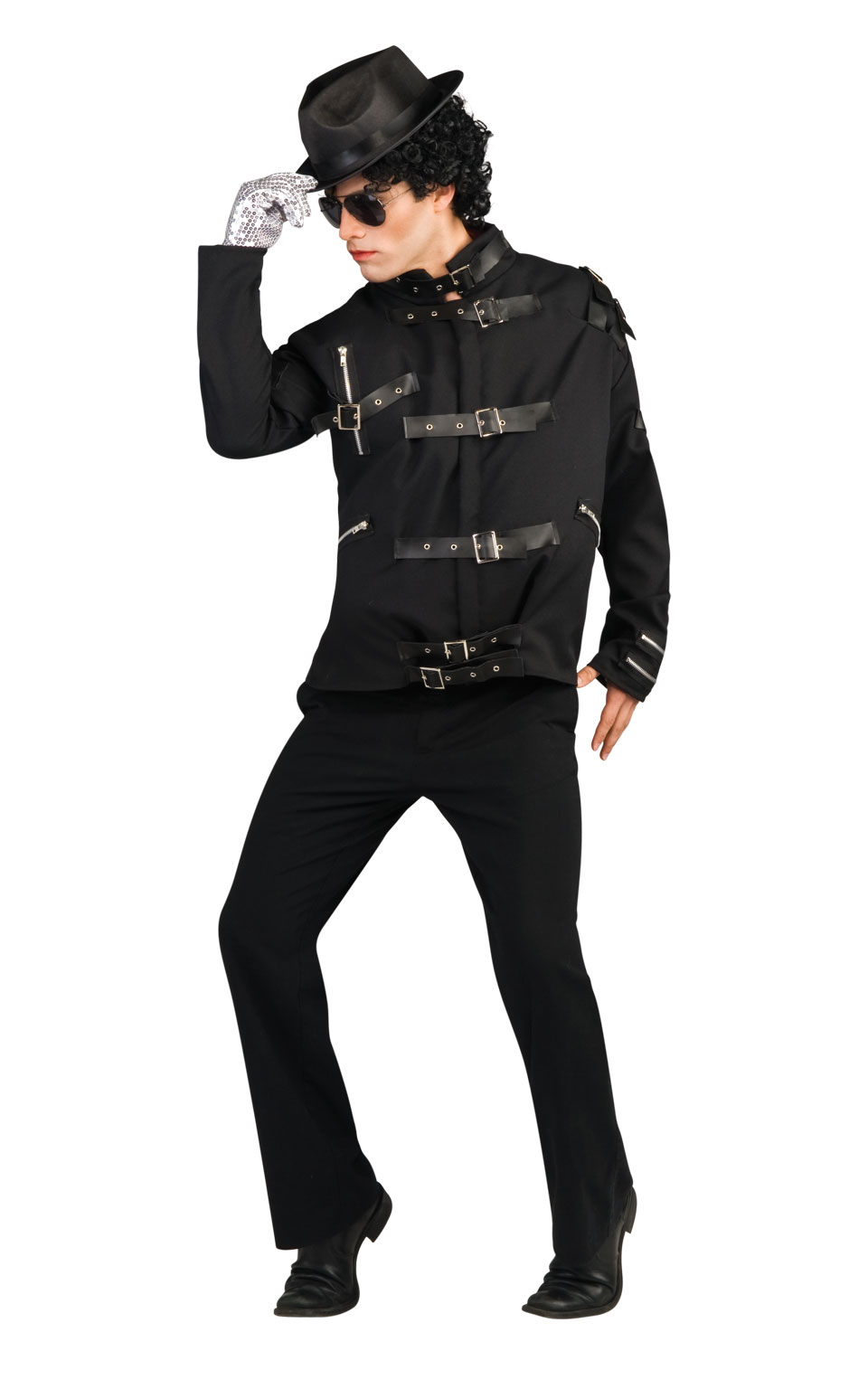 MENS/POPSTARS & CELEBRITIES/MJ DELUXE BAD BLACK BUCKLE JACKET