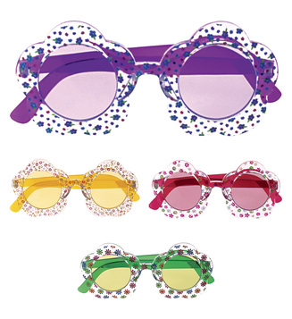 ACCESSORIES/GLASSES/HIPPIE FLOWER GLASSES